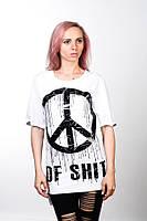 Удлиненная футболка Peace of Shit White Unisex S