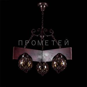 Люстра на 3 лампочки. P3-2423/3P/DK+BN