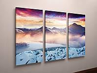 Картина модульная заснеженные горы