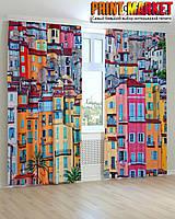 Фотошторы цветные дома