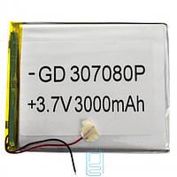 Аккумулятор GD 037080P 3000mAh Li-ion 3.7V