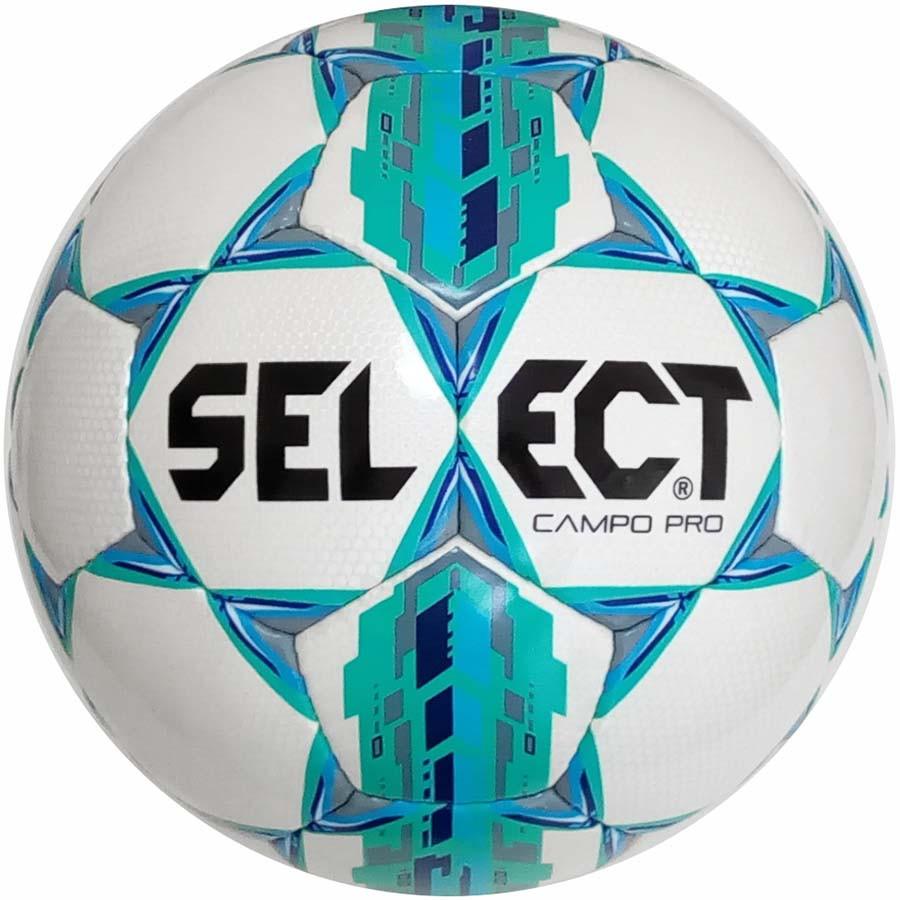 Мяч футбольный Select Campo Pro, бело-зелёный, р.5, не ламинированный