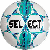 Мяч футбольный Select Campo Pro, бело-зелёный, р.5, не ламинированный, фото 1