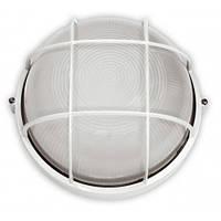 Светильник 60W  круг белый с решеткой