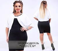 Платье-двойка большого размера недорого в интернет-магазине Украина Россия одежда женская ( р. 48-54 )