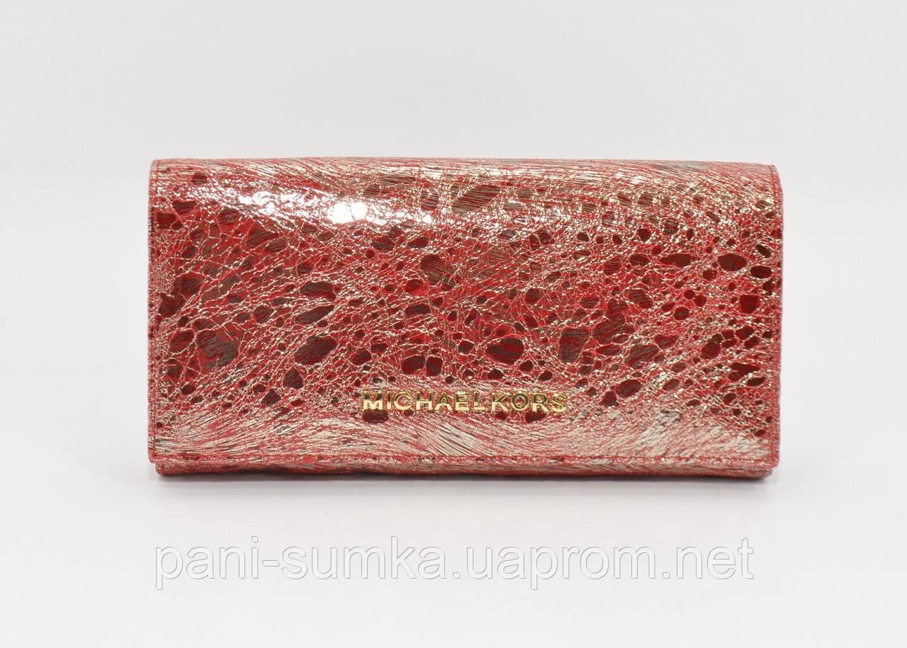 Кошелек кожаный Michael Kors 175-01В красный, расцветки - Интернет магазин