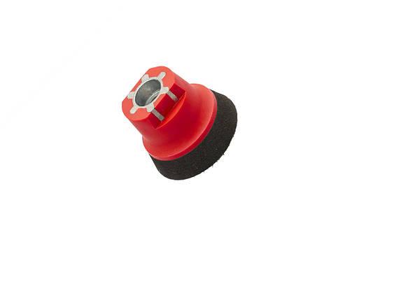 """36298 50 мм (2"""") М14 Оправлення м'яка для абразивів, червоно-чорна-Flexipads Soft Density Velcro, фото 2"""