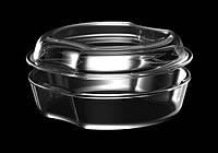 Стеклянная жаростойкая кастрюля simax exclusive с крышкой на 2,5 литра (6906/6916)