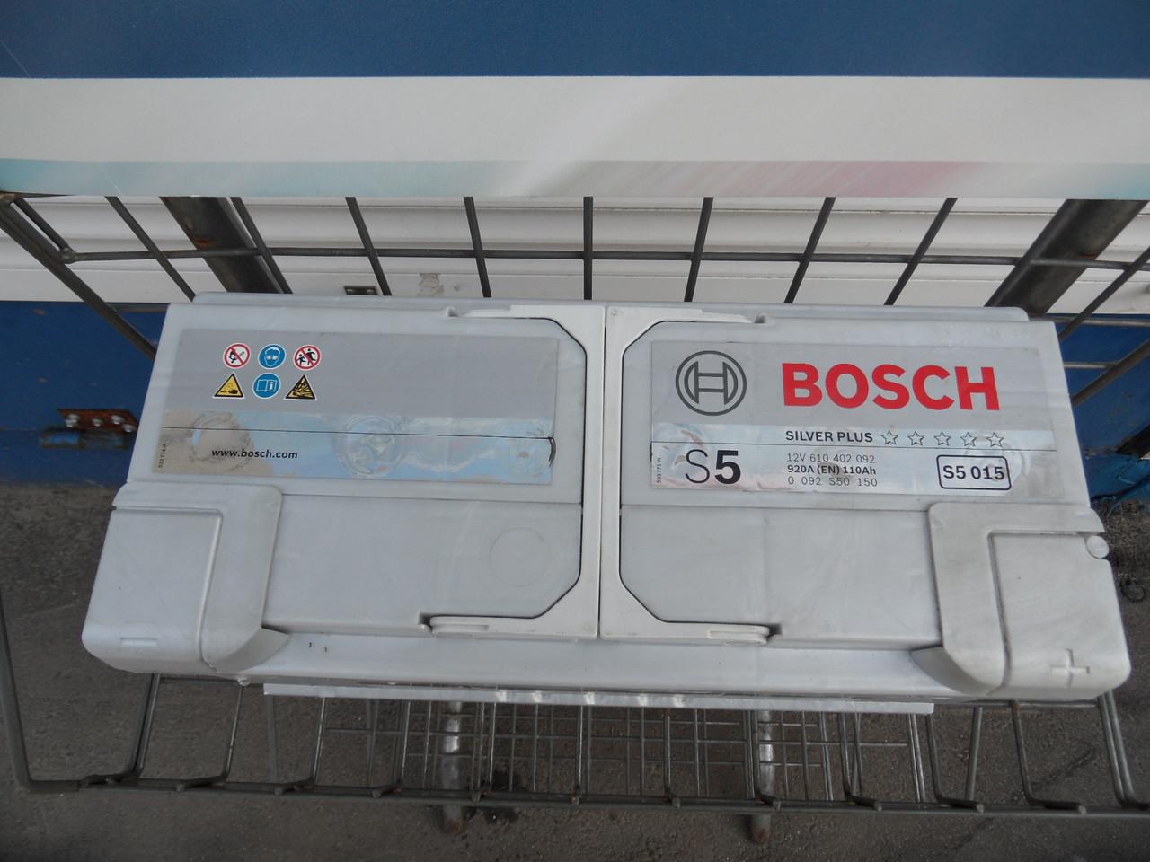 Аккумулятор BOSCH, S5, 0092S50150, 110 Ah -+