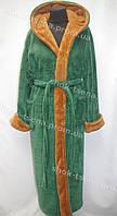 Мужской халат для дома и бани зеленый