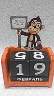 Вечный календарь Обезьянка Символ года размер 15*10*5