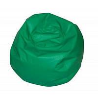 Кресло-мяч из кожзама зеленый