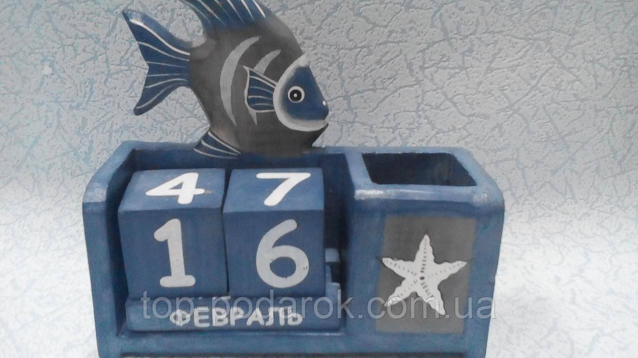 Вечный календарь Рыбка размер 16*16*6