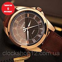 Кварцевые часы Yazole (brown-brown)