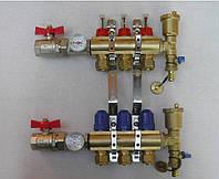 Коллектор теплого пола на 4 контура для низкотемпературных систем