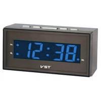 Часы говорящие vst-772t-5, синий led-дисплей, будильник с 12-ю мелодиями, таймер, секундомер, 220в