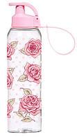 "Бутылка для напитков пластик ""Herevin Pink Rose"" 750 мл 45484"