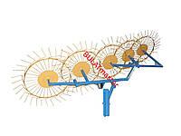 Грабли ворошилки (Солнышко) для мотоблока навесные 5-ти колесные (заводские ГОСТ)