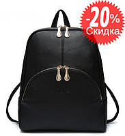 Рюкзак женский городской Maria с карманом (черный), фото 1