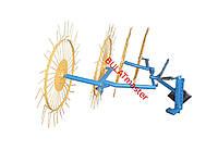 Грабли ворошилки для мотоблока навесные 4-х колесные (заводские ГОСТ, граблина 4мм)
