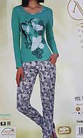 Пижама женская Турецкая брюки и кофта