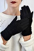Женские перчатки трикотажные Мидори черные