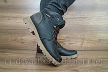 Зимние подростковые ботинки для мальчиков, кожа, размеры 36,37,38,