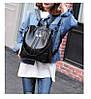 Рюкзак-сумка женский черный под рептилию, фото 7