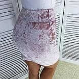 Юбка женская велюровая мини(4 цвета), фото 4