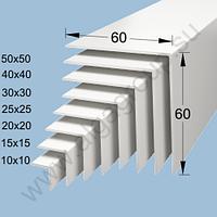Уголок пластиковый декоративный Bolta  20х20 мм белый (01)
