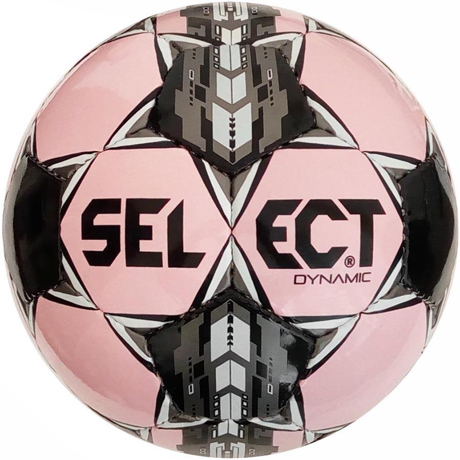 Мяч футбольный Select Dynamic, розово-черный, р.5, не ламинированный