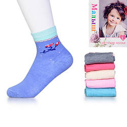Носки детские узорные для девочки Малыш C-256 оптом