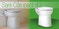 Насос-измельчитель, встроенный в унитаз SANICOMPACT ® 43