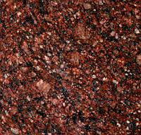 Гранитная брусчатка колотая, Токовская(темно-красная), 100х100х50 мм