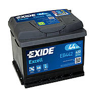 Аккумулятор автомобильный Exide Excell 44 А/ч 420A EB442 (207x175x175)