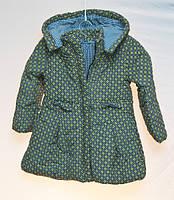 Демисезонная детская куртка для девочки Minia жёлтая 2-6 лет