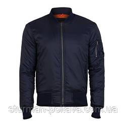 Мужская куртка демисизоная  МА-1  Basic Bomber Jacket   SURPLUS  цвет синий  Германия