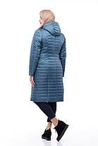 Длинная стеганная куртка большого размера, демисезонная женская 48-60 коллекция 2017, фото 3
