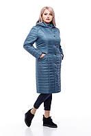 Длинная стеганная куртка большого размера, демисезонная женская 48-60 коллекция новая