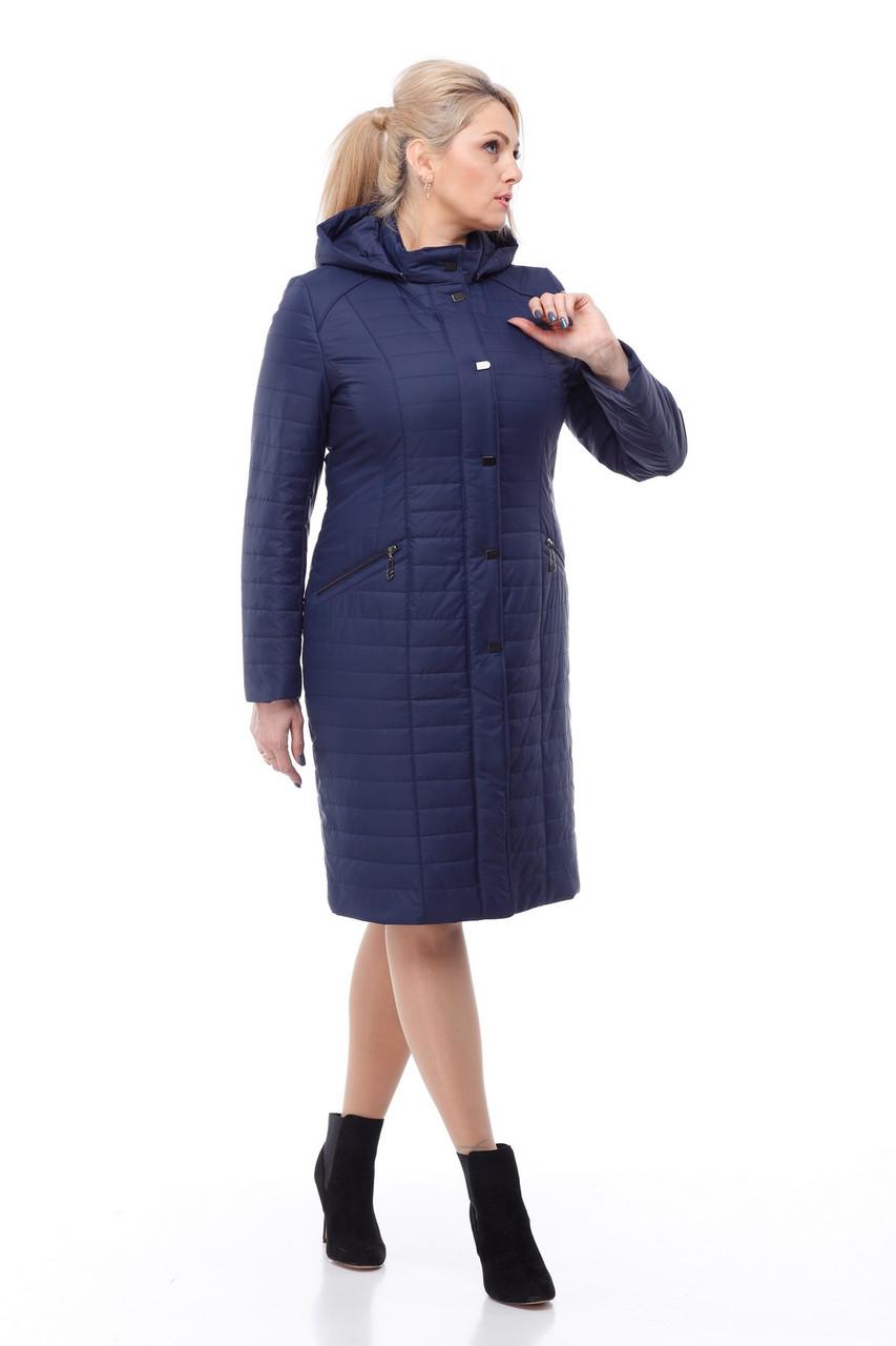 Пальто большого размера длинное демисезонное женское 48-60 коллекция 2018