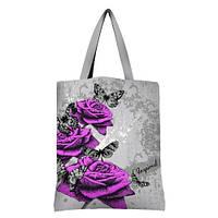 Большая сумка Оригинал с принтом Цветы