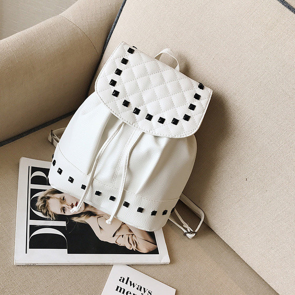 Городской женский рюкзак белый