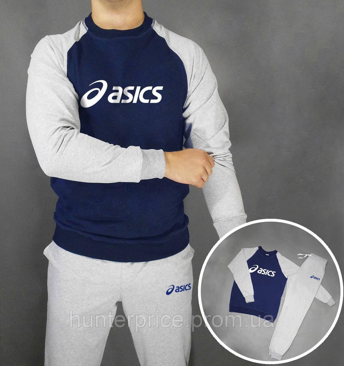 7b524402e421 Мужской спортивный костюм с принтом Asics - Интернет - магазин