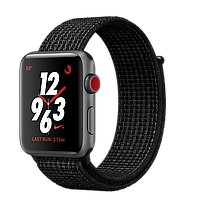 Умные часы Apple Watch Nike+ 42mm Series 3 GPS + Cellular Space Gray Aluminum Case with Black/Pure Platinum Nike Sport Loop (MQLF2)