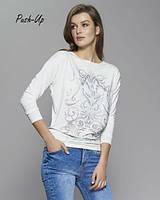 Трикотажная блуза Zaps Dajmira белого цвета с принтом