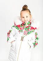 Зимнее пальто детское девочка, невероятно красивое 32,34,36,38