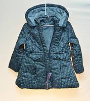 Демисезонная детская куртка для девочки Minia синяя 2-6 лет