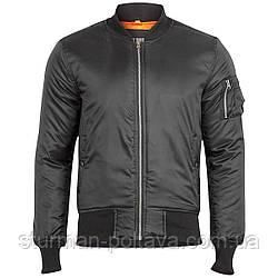 Куртка  мужская   демисизоная  МА-1  Basic Bomber Jacket   SURPLUS  цвет черный  размер 48   Германия