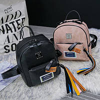 Школьный рюкзак с марками и радужной кисточкой, цвета в наличии, фото 1