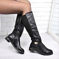 Сапоги женские Blessing черные 3706, зимняя обувь